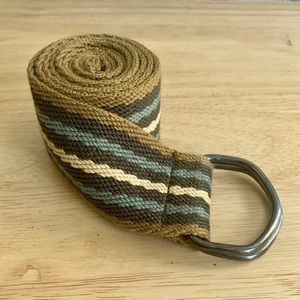DOUBLE D-RING Canvas Fabric Belt size 32